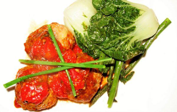 Polpettes de veau et bocconcini un bon repas rapide!
