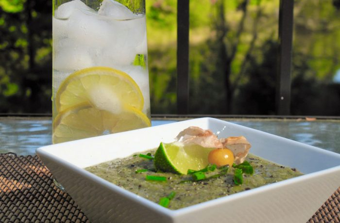 Potage aux lentilles vertes et touski (tout ce qui reste)