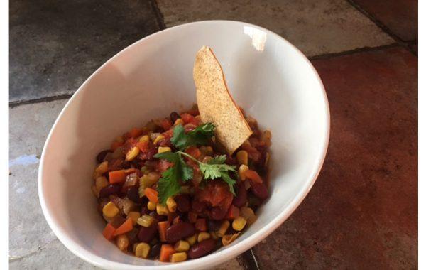 Chili végétarien maison avec légumes!!